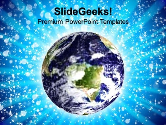 Blue Earth Environment PowerPoint Templates And PowerPoint Themes 0812
