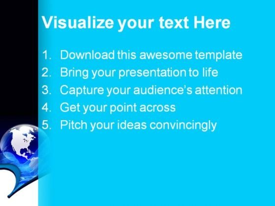 Blue Globe Abstract Powerpoint Templates And Powerpoint