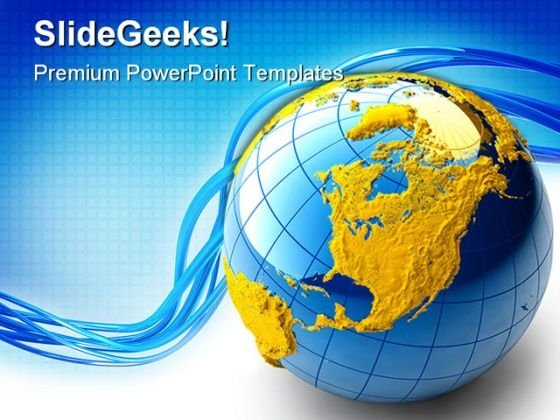 Blue Globe Abstract PowerPoint Templates And PowerPoint Backgrounds 0311