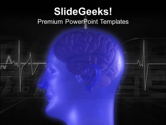 Blue Graphic Of Human Brain PowerPoint Templates Ppt Backgrounds For Slides 0613