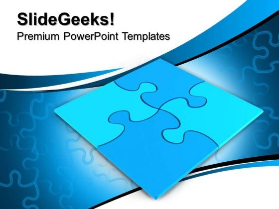 Blue Jigsaw Puzzles PowerPoint Templates And PowerPoint Themes 0712
