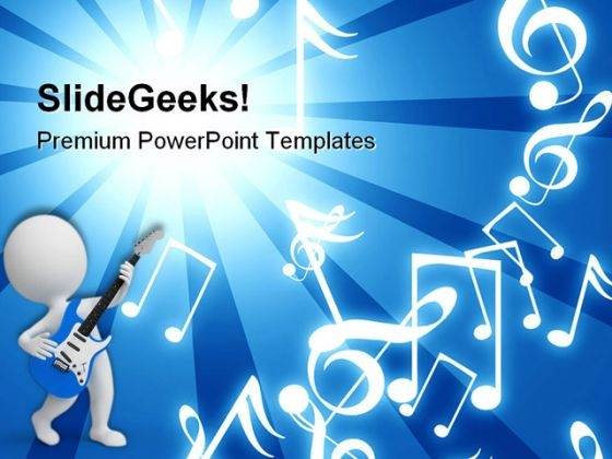 Blue Rays Entertainment Music PowerPoint Themes And PowerPoint Slides 0511