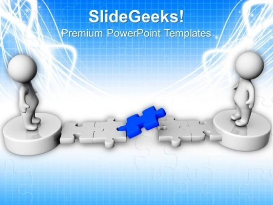 Blue Solution Puzzle Business PowerPoint Templates And PowerPoint Themes 0912