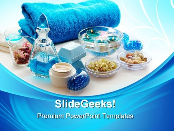 Blue Spa Lifestyle PowerPoint Themes And PowerPoint Slides 0311