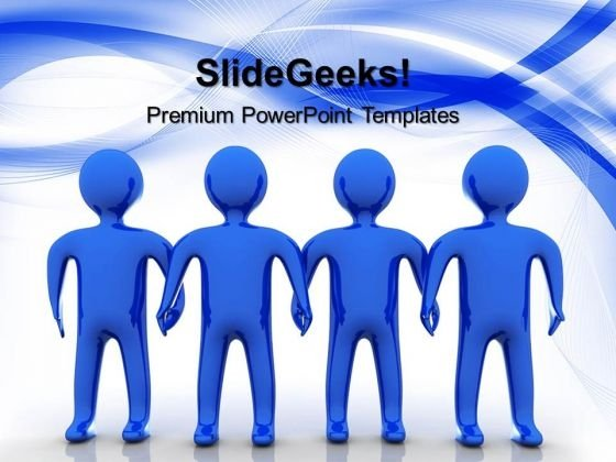 Blue Team Teamwork PowerPoint Templates And PowerPoint Themes 0512