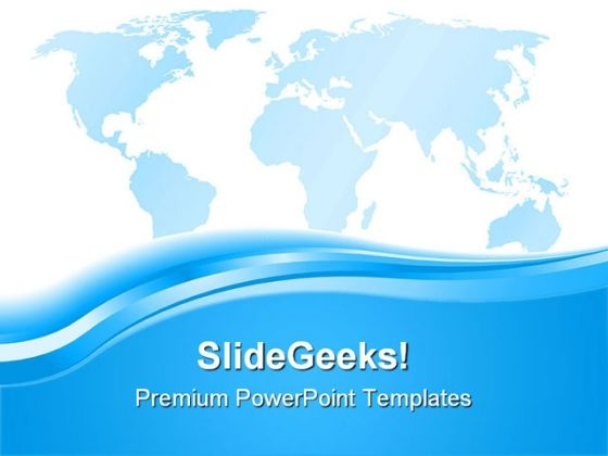 Blue World Map Abstract Powerpoint Templates And Powerpoint