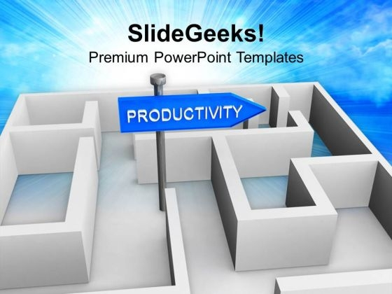 Board Of Productivity In Labyrinth PowerPoint Templates Ppt Backgrounds For Slides 0213