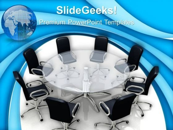 Boardroom Meeting Global Business PowerPoint Templates And PowerPoint Themes 0612