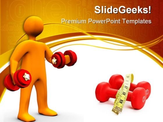 Body Building Health PowerPoint Themes And PowerPoint Slides 0411