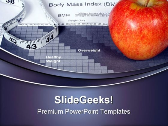 Body Mass Index Chart Health Powerpoint Templates And Powerpoint