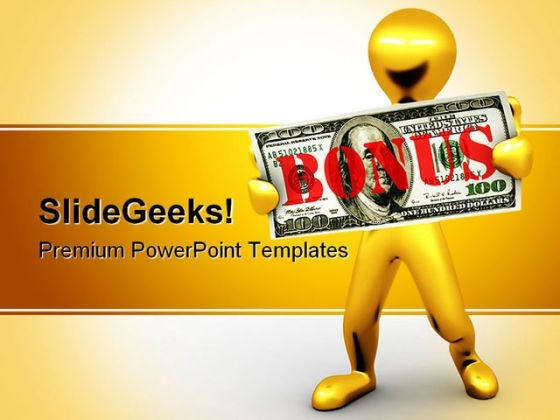 Bonus Finance PowerPoint Backgrounds And Templates 1210