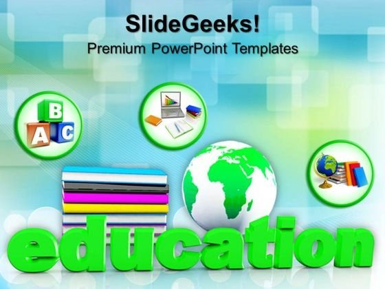 Book And Global Future PowerPoint Templates And PowerPoint Themes 1012