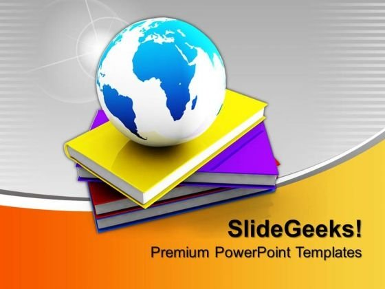Book And Globe Education PowerPoint Templates And PowerPoint Themes 0912