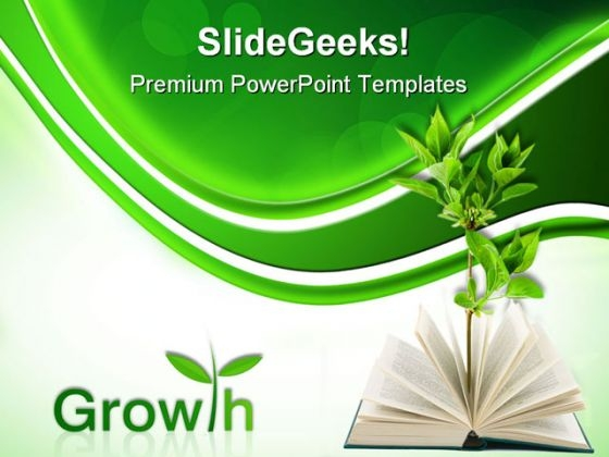 Book And Plant Business PowerPoint Themes And PowerPoint Slides 0511
