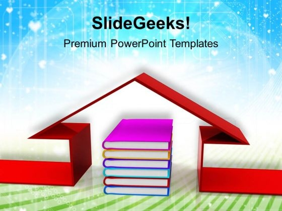 Book And The House Education PowerPoint Templates And PowerPoint Themes 1112