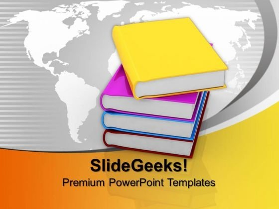 Book Education PowerPoint Templates And PowerPoint Themes 1012