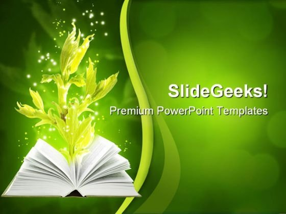 Book Of Ground Magic Nature PowerPoint Templates And PowerPoint Backgrounds 0511