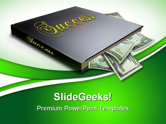 Book Of Success Money PowerPoint Themes And PowerPoint Slides 0511