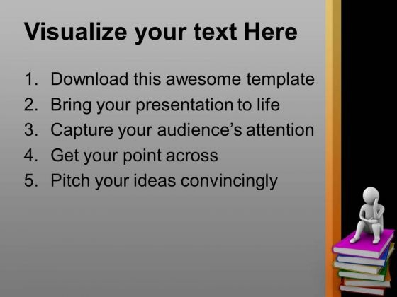 Books Are Our True Friends Education Theme PowerPoint Templates ...