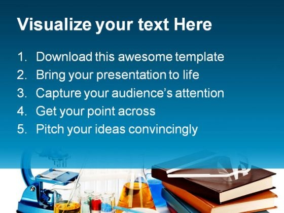 books flasks science powerpoint template 0810 - powerpoint themes, Presentation templates