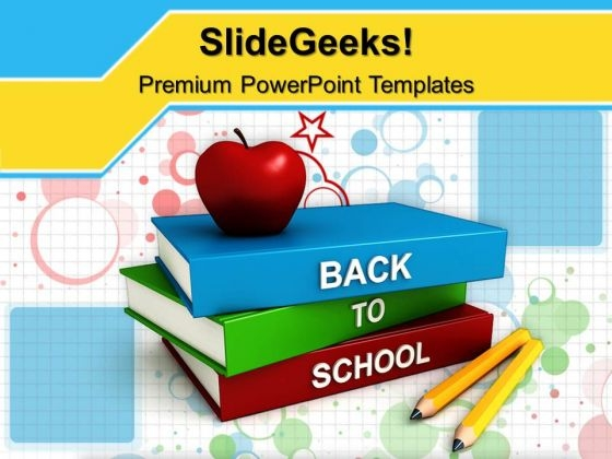 Books With Back To School PowerPoint Templates And PowerPoint Themes 0912