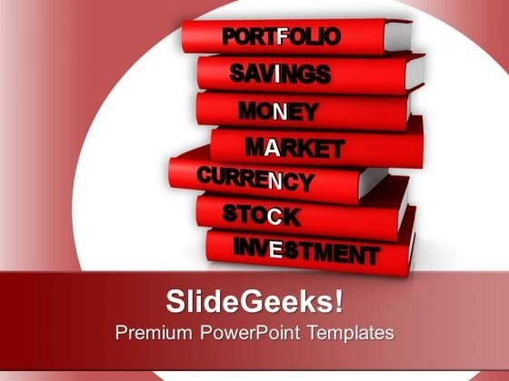 Books With Financial Terms PowerPoint Templates Ppt Backgrounds For Slides 0713