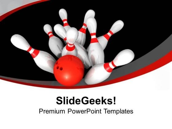 Bowling Game Entertainment Success PowerPoint Templates Ppt Backgrounds For Slides 0213