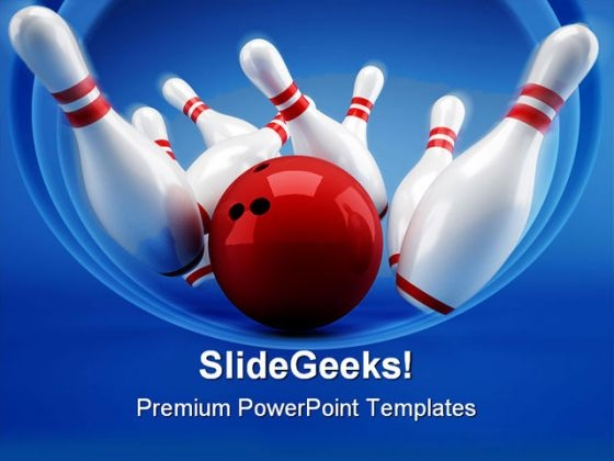 Bowling Game PowerPoint Themes And PowerPoint Slides 0511