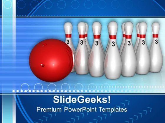 Bowling Game Targets PowerPoint Templates And PowerPoint Themes 0712