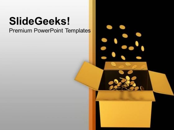 Box Full Of Coins Investment Finance PowerPoint Templates Ppt Backgrounds For Slides 1112