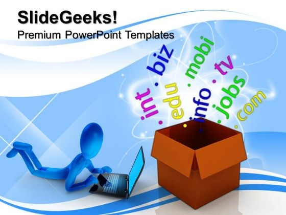 Box With Domains Networking Internet PowerPoint Templates And PowerPoint Themes 0712