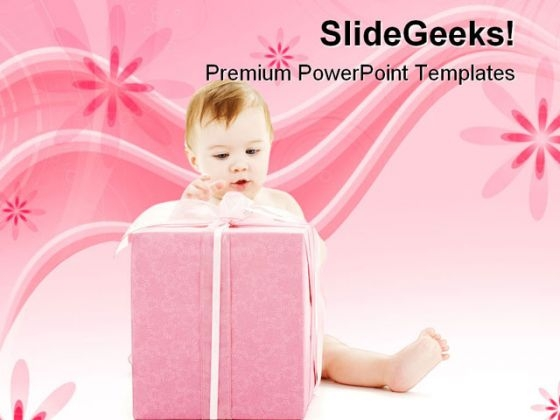 Boy With Gift Festival PowerPoint Themes And PowerPoint Slides 0511