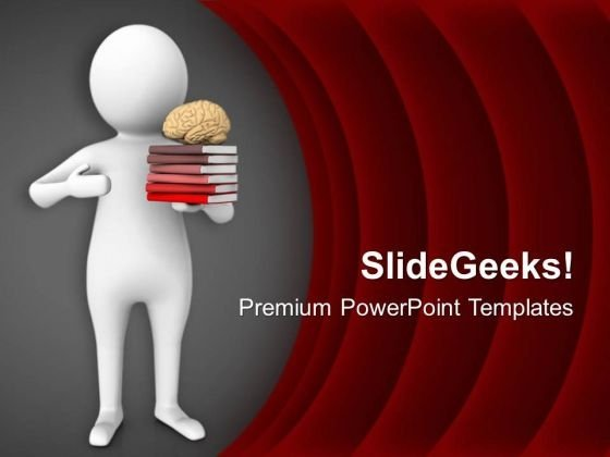 Brain Can Grasp So Much Of Book Knowledge PowerPoint Templates Ppt Backgrounds For Slides 0613
