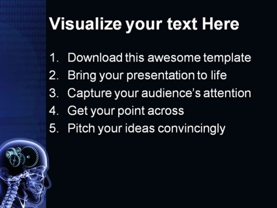 Brain Gears Science Powerpoint Template   Powerpoint Themes