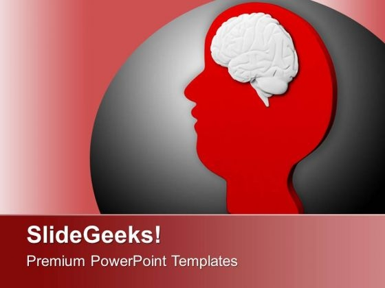 Brain In Red Face PowerPoint Templates Ppt Backgrounds For Slides 0713