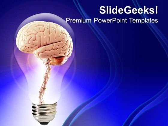 Brain Inside Bulb Creative PowerPoint Templates Ppt Backgrounds For Slides 0313