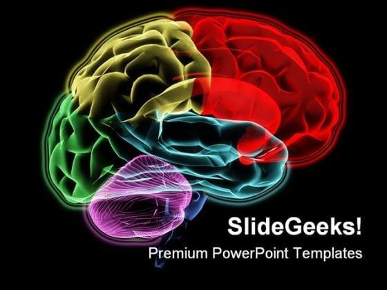 Brain Medical PowerPoint Template 0610