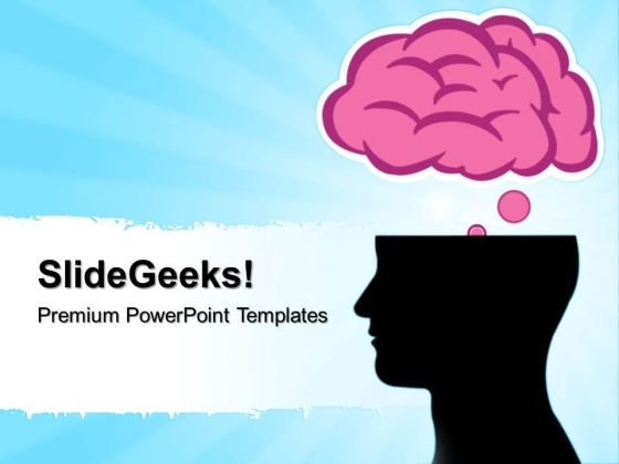 Brain Silhouettes Science Powerpoint Templates And Powerpoint