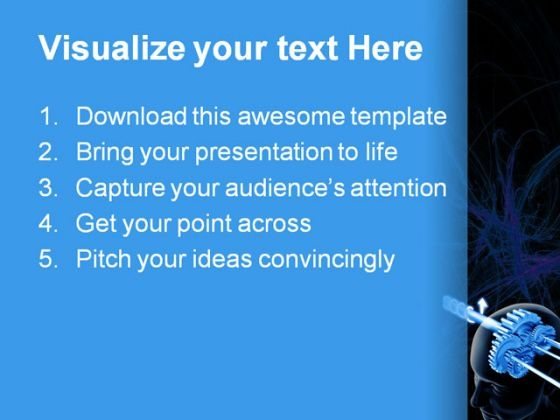 brain think science powerpoint template 0610 - powerpoint themes, Presentation templates