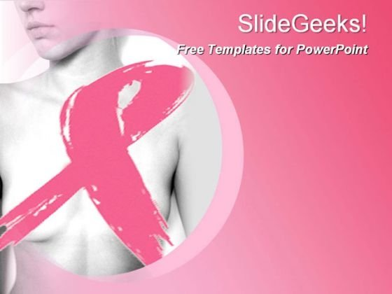 Breast cancer Template with Ribbon on the Left