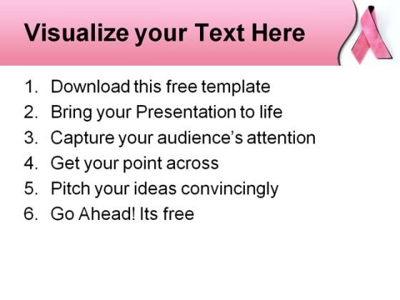 breast cancer powerpoint template  powerpoint themes, Powerpoint