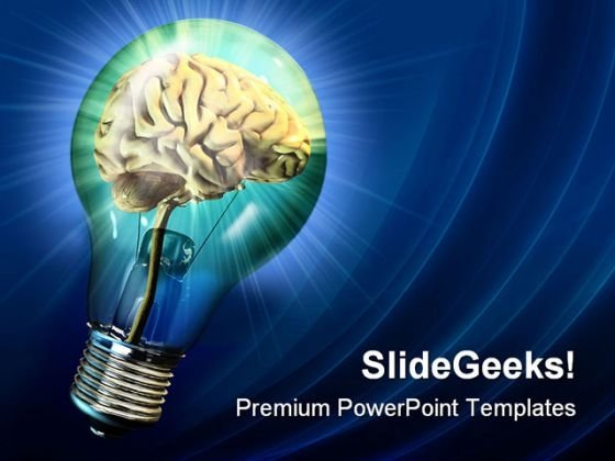 Bright Idea Business PowerPoint Themes And PowerPoint Slides 0211