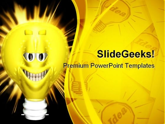 Bright Ideas Smiley Symbol PowerPoint Templates And PowerPoint Backgrounds 0211