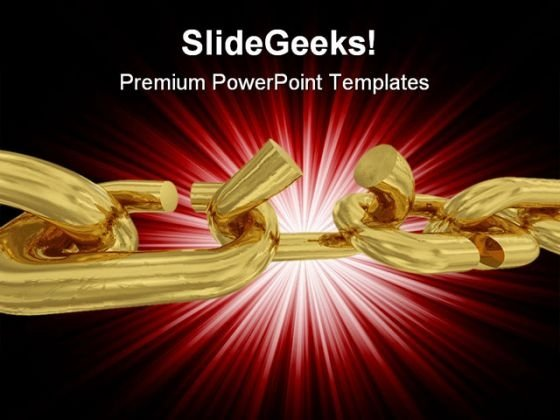 Broken Chain Business PowerPoint Themes And PowerPoint Slides 0811