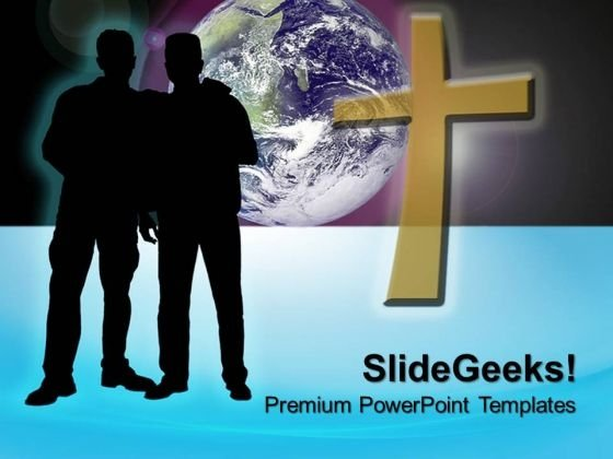 Brothers In Faith Christian PowerPoint Templates And PowerPoint Themes 0712