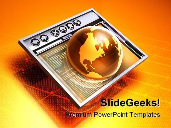 Browsing The Internet Computer PowerPoint Backgrounds And Templates 1210