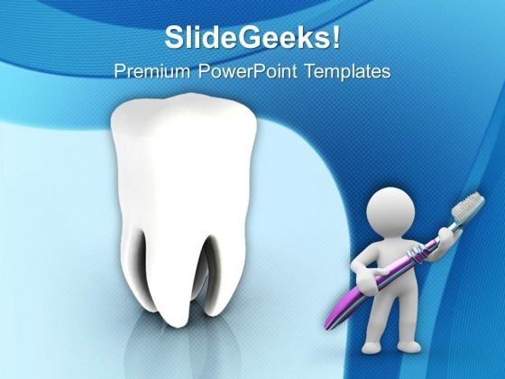 Brush Your Teeth Regularly PowerPoint Templates Ppt Backgrounds For Slides 0613