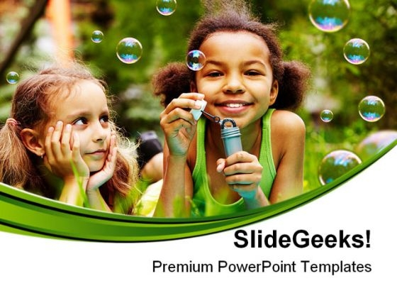 Bubble Fun Children PowerPoint Themes And PowerPoint Slides 0411