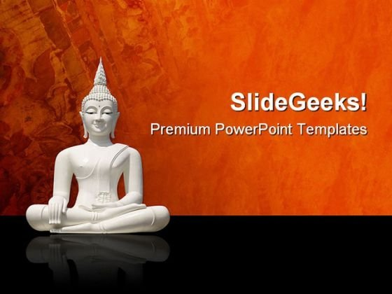 Buddha Religion PowerPoint Themes And PowerPoint Slides 0511