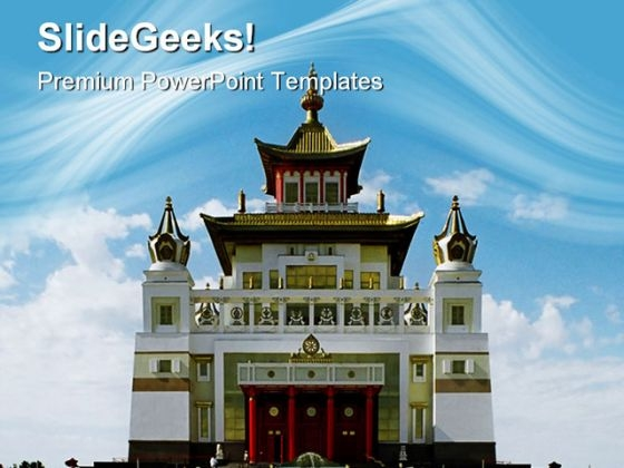 Buddhist Temple Religion PowerPoint Themes And PowerPoint Slides 0811